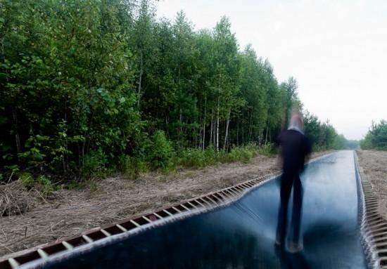 ロシアにある50メートルの長さのトランポリンのような道路