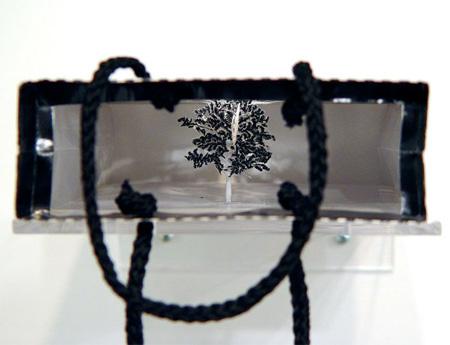 紙袋の中の木