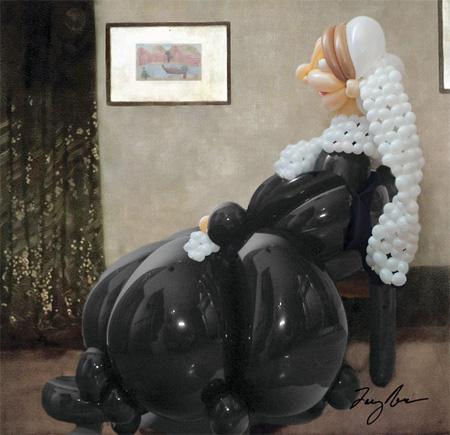 バルーンアートの絵画