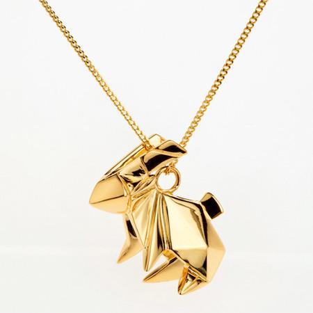 折り紙の形をしたジュエリー「Origami Jewelry」