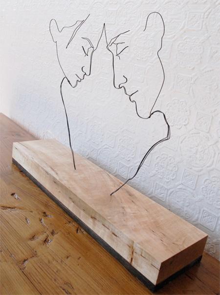 スチールワイヤーアート