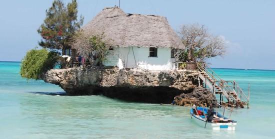 タンザニアにある海の上の絶景レストラン「THE ROCK RESTAURANT」