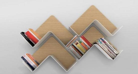 ちょっと変わった形の、おしゃれな本棚