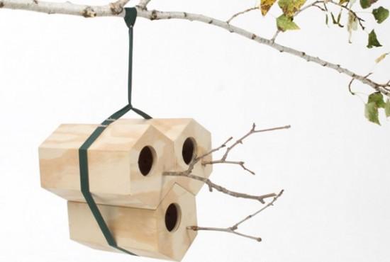 六角形の鳥小屋「NEIGHBIRDS」