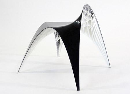 ユニークなデザインの椅子