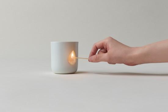 アロマ用のキャンドルホルダー「flame」
