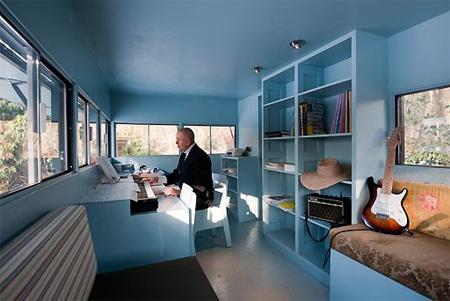 ログハウス風のオフィス