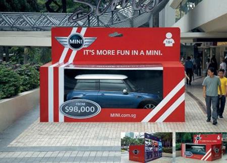 ミニクーパーの広告