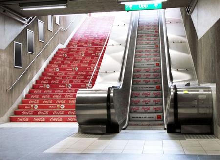 【世界の広告】階段を巧みに利用した広告