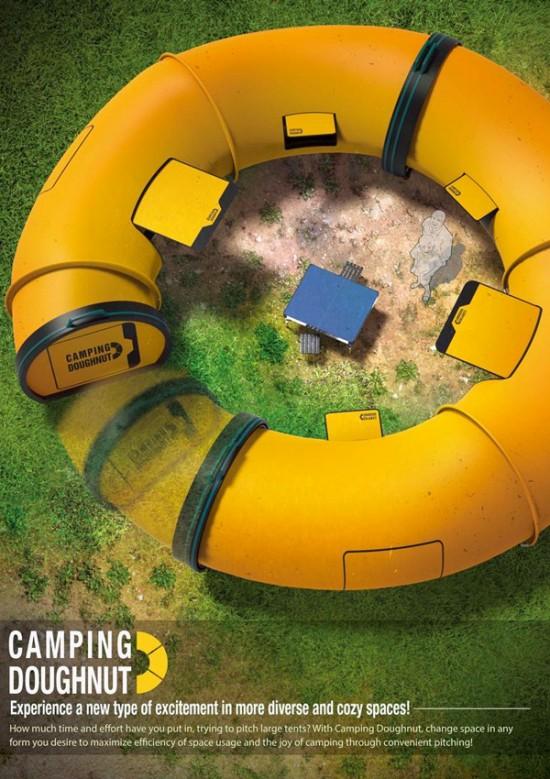 ドーナツの形のテント「Camping Doughnut」