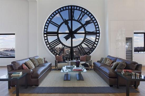 ニューヨークにある大きな時計のある家Clock Towerの最上階