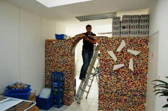 レゴブロックで出来た壁