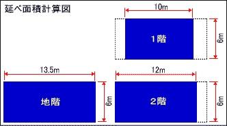 延べ面積計算図