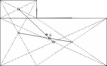 複雑な家の家相の中心の求め方3 写真:家相入門