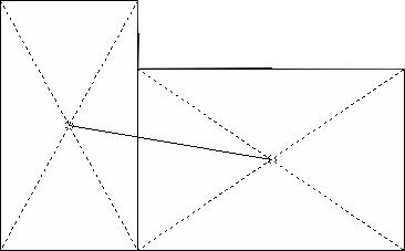 複雑な家の家相の中心の求め方2 写真:家相入門
