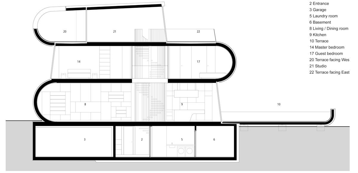 flexhouse long section 設計: evolution design