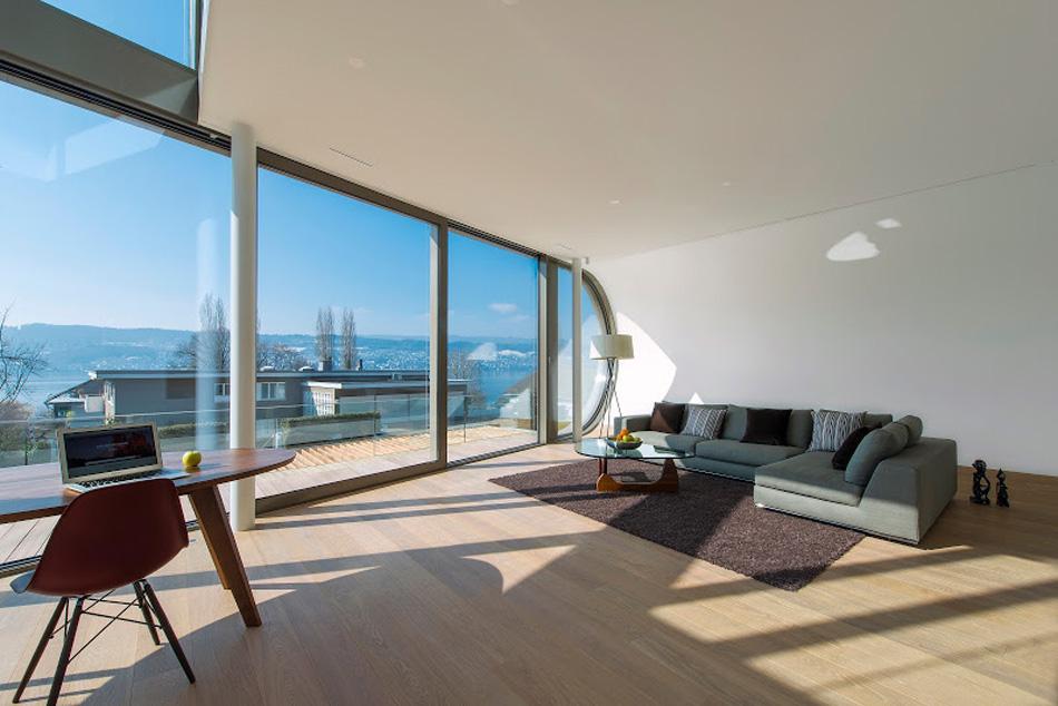 flexhouse ground+floor living+room 視点8−2 設計: evolution design