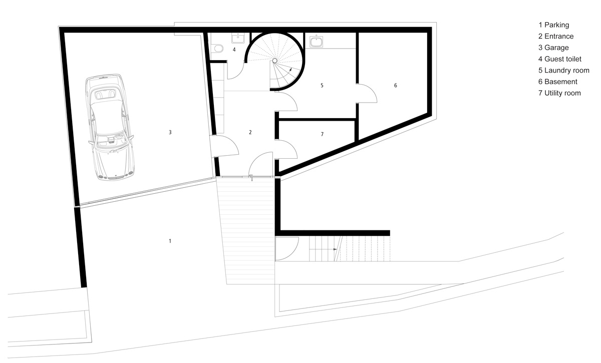 flexhouse entrance level 設計: evolution design