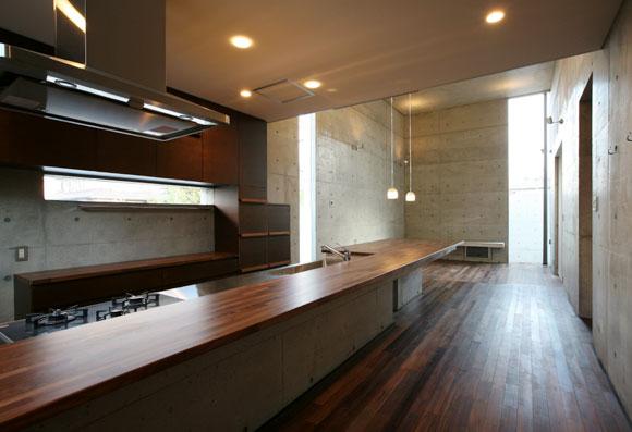 キッチン カウンターテーブル 一体化