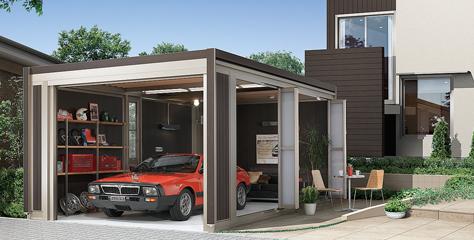 屋外設置型ガレージ