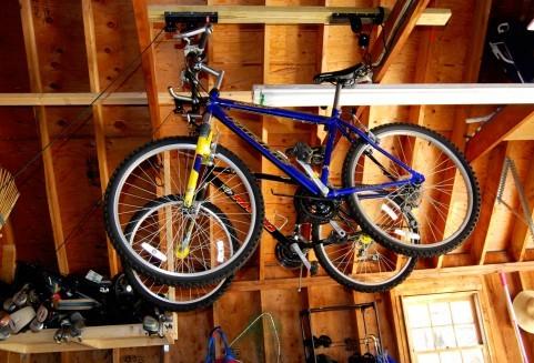 ビルトインガレージ 自転車の保管