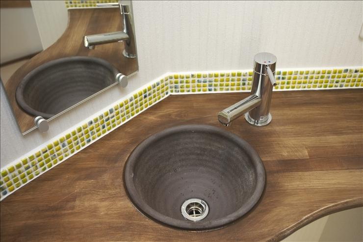洗面所のタイル2